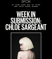 Spook Magazine, featured stylist and model, http://www.spookmagazine.com/week-in-submission-chloe-sargeant/