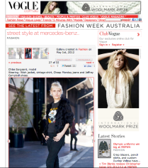 Vogue Australia, shot by Candice Lake, 2012, http://www.vogue.com.au/fashion/galleries/street+style+at+mercedes+benz+fashion+week+australia,19291?pos=26&large=1#top